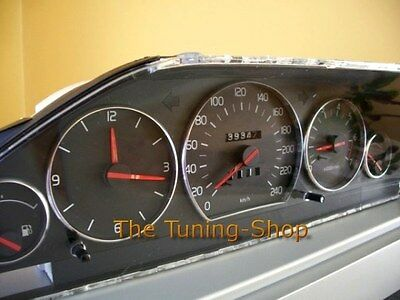 Fits Volvo 940 960 S90 V90 Chrome Look Aluminum Dial Gauge Rings Surrounds