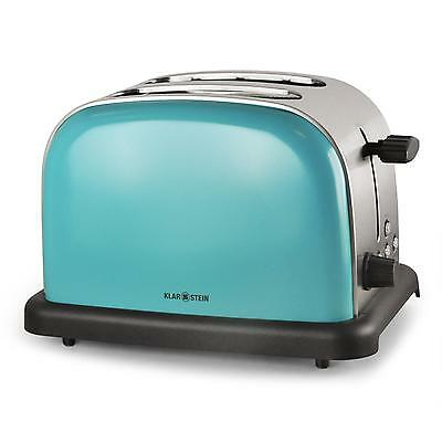 Stainless Steel 2-Slice Toaster Turquoise Blue Chrome *free P&p Special Offer