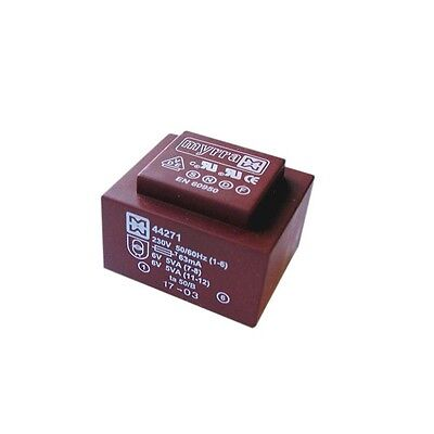 Encapsulated Mains Insulated 230V PCB Power Transformer 1.5VA 0-6V 0-6V Output