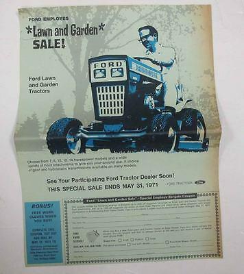 1971 Ford 140 Lawn and Garden Tractor Brochure mx9308