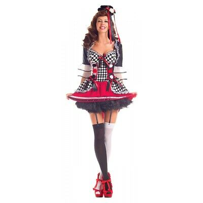 Harlequin Costume Adult Halloween Fancy Dress