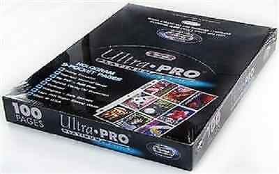 (100) Ultra Pro Platinum Heavy Duty 9-Pocket Trading Card Pages Premium Sheets