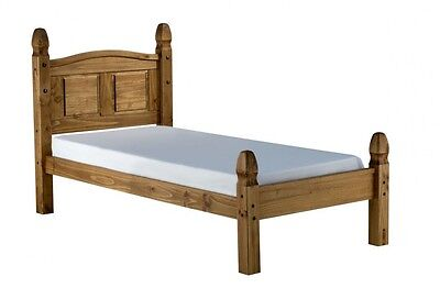 Corona Bed Frame 3ft Single Low End Bedroom Solid Pine by Mercers Furniture®