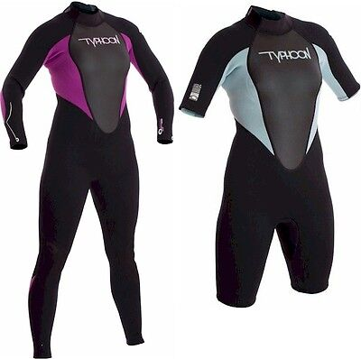 STORM LADIES 5mm or 3mm WETSUIT by Typhoon ADULT full long shorty women girls