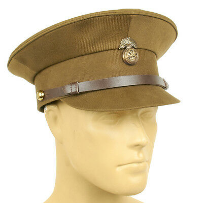 British WWI Officer Service Dress Peaked Cap- Size US 7 1/2 (60cm)