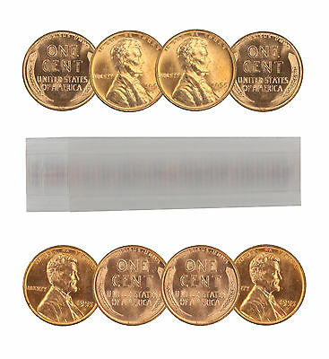 1955-D Lincoln Cent Choice BU Roll Uncirculated 50 Coins