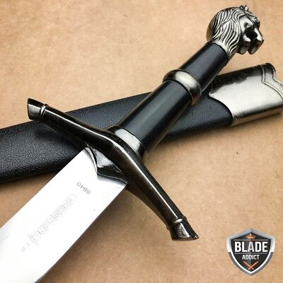 "15.5"" NARNIA LION'S HEAD MEDIEVAL ORNATE KNIGHT FANTASY DAGGER Sword KNIFE LARP"