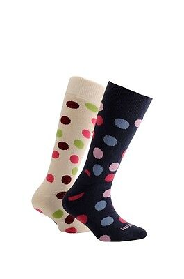 Horizon Kids Outdoor Socks 2 Pack Spots - Cream & Ink  - 12.5 - 3  - 80% Cotton