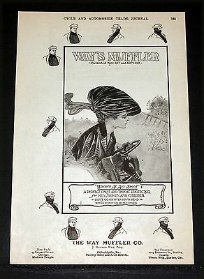 1906 Old Magazine Print Ad, Way's Muffler, A Perfect Chest And Throat Protector!