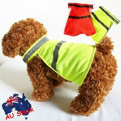 Dog Fluro Safety Vest Jacket Protective Clothing High Visibility Reflective PPP