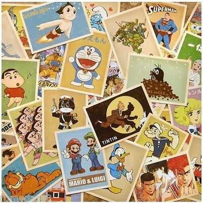 Lot of 32 Old Memories Forever Classical Cartoon figure Vintage Postcards