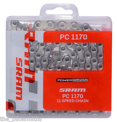 SRAM PC-1170 11-Speed HollowPin Road Bike Chain fits CX1 RED 22 Force 22 Shimano