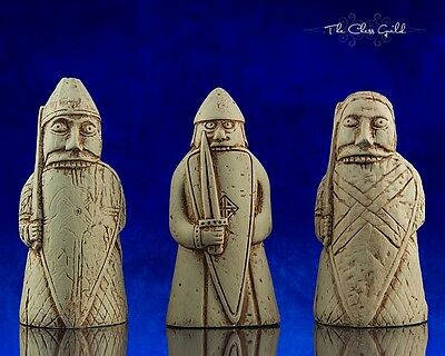 Isle of Lewis Beserker Set, The Chess Guild Exclusive 1:1 Replica