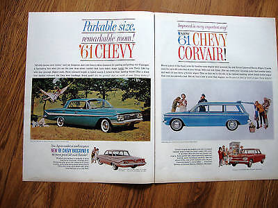 1961 Chevrolet Ad Impala Biscayne Corvair