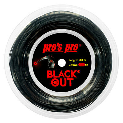 Pro's Pro Black Out 1.28mm 16 Tennis Strings 200M Reel
