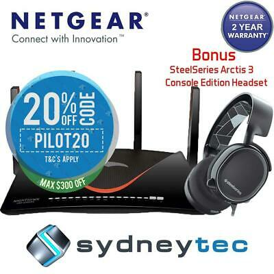 New AU Netgear XR700 AD7200 Gaming Router + Bonus SteelSeries Arctis 3 Console H