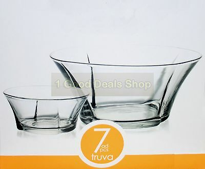 6 +1 pc Glass Bowls Set Dessert Dishes Ice Cream Sundae Fruit Trifle Gift TRUVA