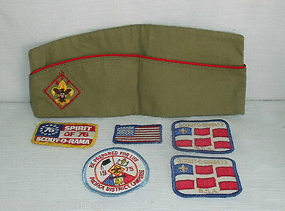 Boy Scouts of America Vintage Cap and 1970's Patches Lot FREE US Shipping