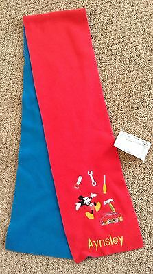 Disney Mickey Mouse Clubhouse Fleece Personalized Scarf AYNSLEY XXS 2 3 Toddler