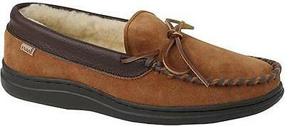 Mens L.B. Evans Atlin Indoor/Out Slipper Moc 7-16 M,W~Terry or Sherpa Lining NIB