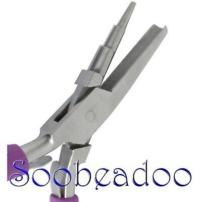Wire Wrapping pliers 3 Steps Looping Round Concave Comfort Handles Stainless