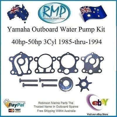 A Brand New Yamaha Water Pump Kit 40hp-50hp 3cyl 1985-thru-1994 # R 6H4-W0078-00