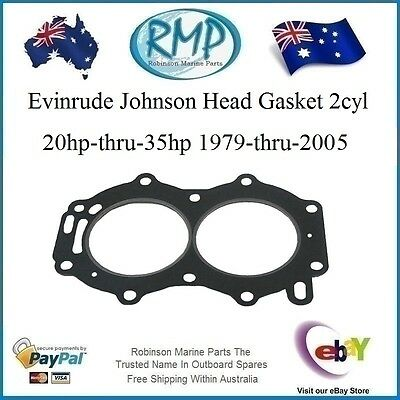 A Brand New Head Gasket Evinrude Johnson 20hp-thru-35hp 1979-2005 # R 329419