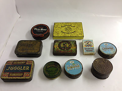 VINTAGE COLLECTABLE TINS - VINTAGE PLAYERS NAVY CUT & OTHER CIGARETTE TINS