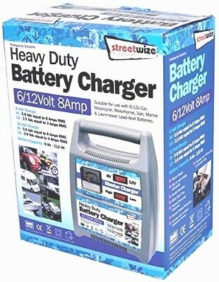 6v 12v 8A 8AMP MASTER battery charger car motorbike cycle 6 12 VOLT trickle  PRO