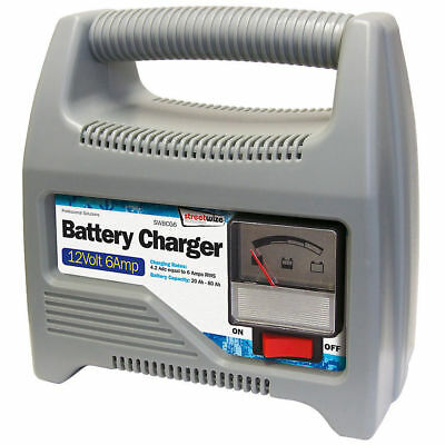 12v 6A 6AMP battery charger car van boat motorbike 12 VOLT charge automatic