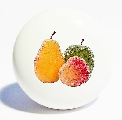 Peach Pear Apple  Home Decor Ceramic Knob Drawer Cabinet Pull