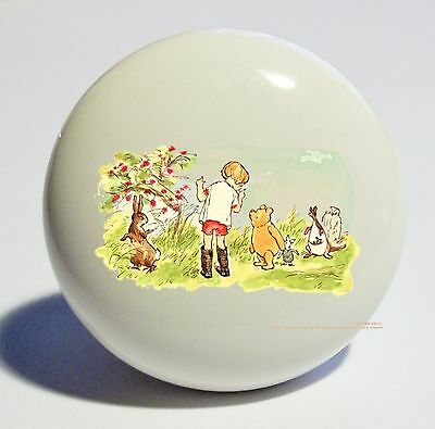 Classic Pooh And Friends Home Decor Ceramic Kitchen  Knob Drawer Cabinet Pull