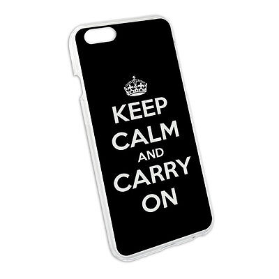 Keep Calm and Carry On Black Snap On Hard Protective Case for Apple iPhone 6