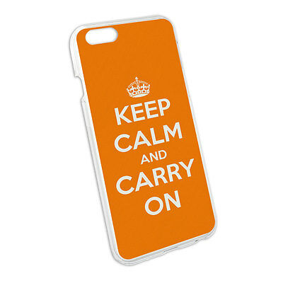 Keep Calm and Carry On Orange Snap On Hard Protective Case for Apple iPhone 6