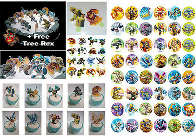 Skylander 39 Cup Cake STAND UP DiY & 48 SWAP FORCES Skylanders Toppers DIY PARTY