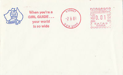 Australian Girl Guides 1981 Sydney cover with franking machine TRIAL postmark