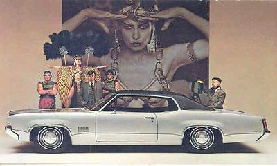 1969 Oldsmobile Delta 88 Royale Holiday Coupe ORIGINAL Factory Postcard mx9836