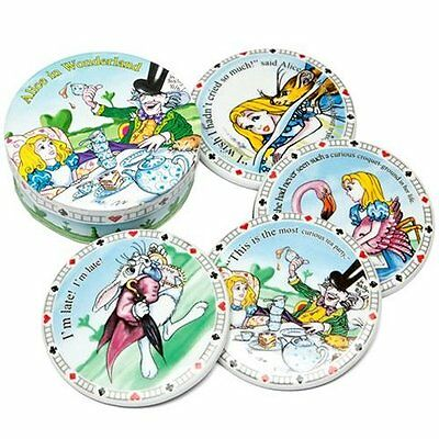 NEW! Cardew Design Alice in Wonderland Coasters - Set of 4