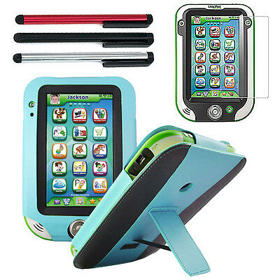 Blue / Black Folio Leather Stand Case+3x Stylus+LCD For LeapFrog LeapPad Ultra
