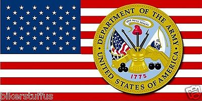 USA FLAG WITH ARMY LOGO BUMPER STICKER DEPARTMENT OF THE ARMY BUMPER STICKER