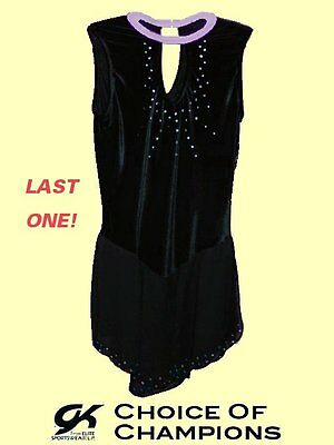 GK Elite® #930 Adult Medium Deep Navy Blue Velvet Skating Dress/Costume - SAVE!