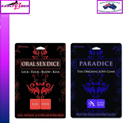 2 GAMES PARADICE LOVE & ORAL SEX DICE Novelties Adult Fun Night Party Toys-Game