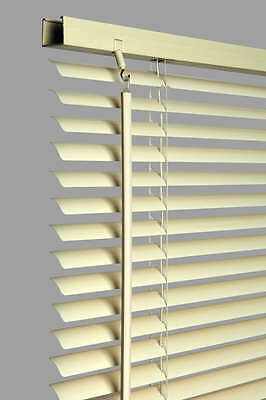 Cream Pvc Venetian Window Blind Extra Long Drop All Sizes Blinds Standard New