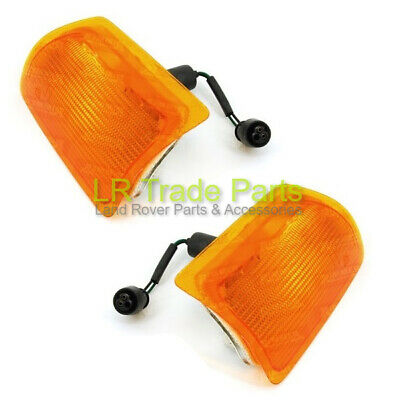 Land Rover Discovery 1 200Tdi Front Amber Indicator Lights Lamps Pair, 1989-1994