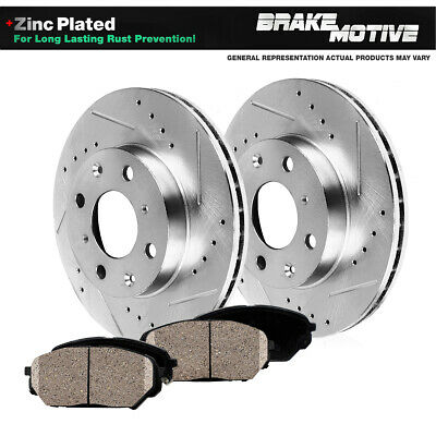 [FRONT KIT] PERFORMANCE DRILLED AND SLOTTED BRAKE ROTORS & CERAMIC PADS M310518