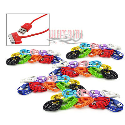 5X 10-Color 10Ft Usb 30Pin Cable Data Sync Charger For Galaxy Tab 7 8.9 10.1