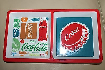 "Coca-Cola Coke Snack Tray  12"" x 6.3/4"" Serving dish Party plate New Enjoy"