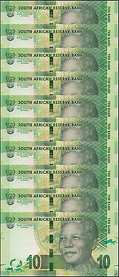 South Africa 10 Rand X 10 Pieces (PCS), ND 2014, P-133, UNC, with Omron Rings