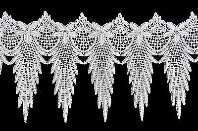 """6""""  White & Ivory Vintage Guipure Venice Lace Trim by Yard 100% Rayon"""