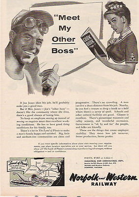 1956 MEET MY OTHER BOSS NORFOLK AND WESTERN AD